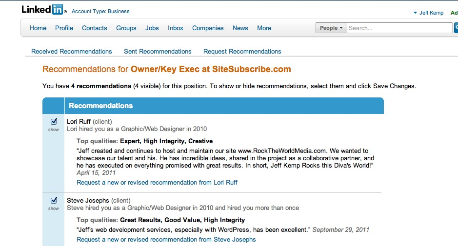 Recommendations On Linkedin Templates. 25 best ideas about ...