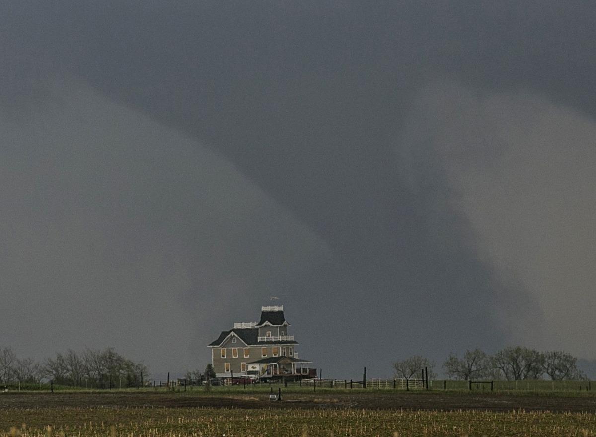 Raw Video Via Gizmodo Massive Twin Tornadoes Touch Down