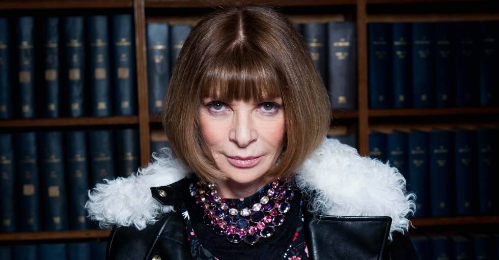 Anna WIntour, Editor-in-Chief of American Vogue  and Artistic director of Conde' Nast, speaks to the Oxford Union,Oxford,UK